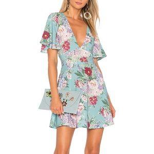 Show Me Your MuMu • Aubrey Blue Floral Dress